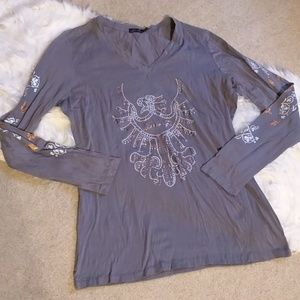 Seven 7 for mankind long sleeve top shirt sz m